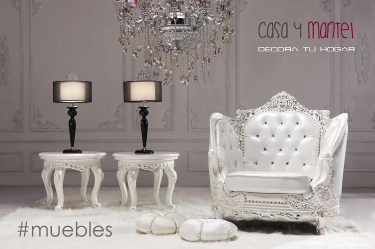Muebles blancos casa y mantel for Casa con muebles blancos