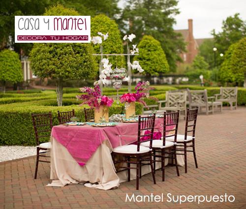 Manteles de mesa y manteles antimanchas tefl n casa y mantel - Manteles mesa rectangular ...