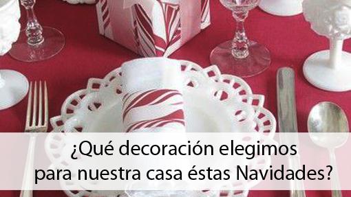 Decoración mesa manteles navidad roja y blanco Isla Mueble