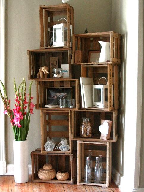 cajas de madera decoración online isla mueble