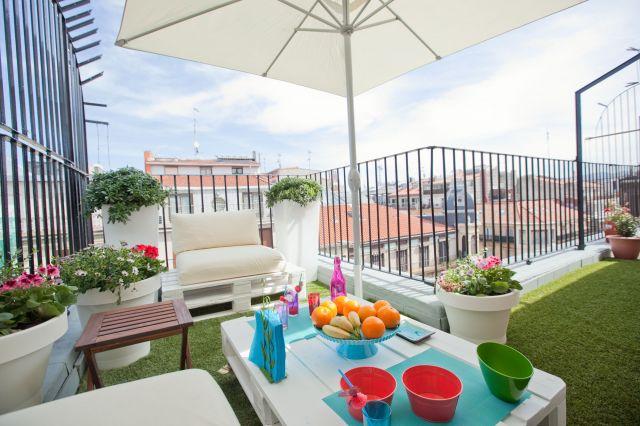 Terrazas balcon decoración online islamueble mantel manteles antimancahs mesas madera ikea