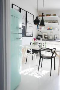 turquesa blanco y negro decoración online Isla Mueble