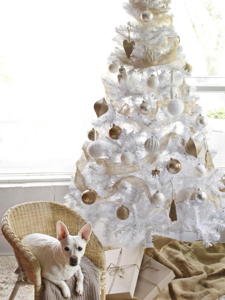 arbol-blanco-decoracion-navidad-casaymantel