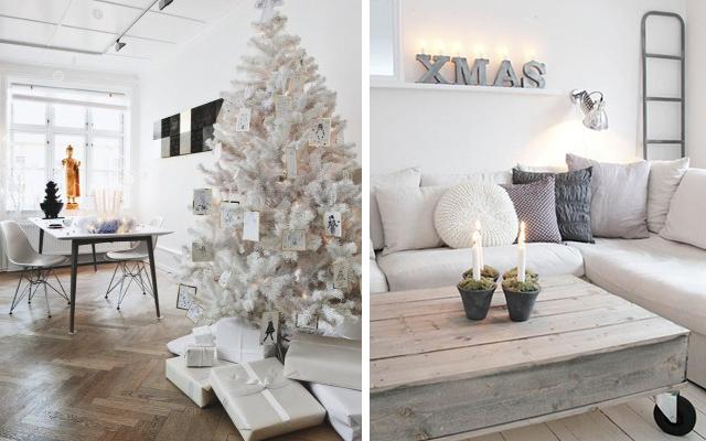 madera-cristal-blanco-casa y mantel-decoracion-navidad
