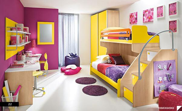 decoracion-infantil-ninas-colores-casaymantel