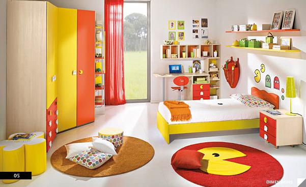 decoracion-infantil-videojuegos-pacman-casaymantel
