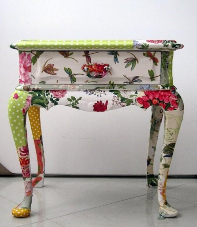 decoupage-tela--madera-muebles-casaymantel-vintage