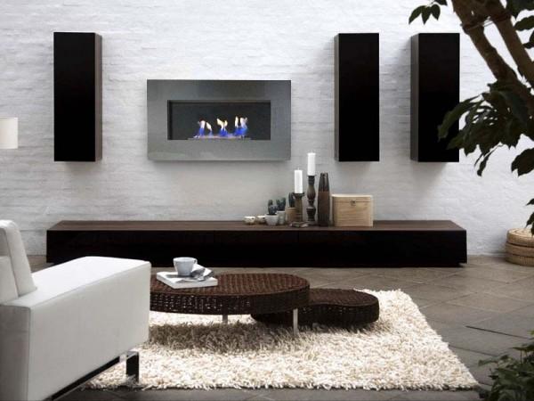 Manteles y muebles para la decoraci n de tu hogar casa y - Muebles de salon con chimenea integrada ...