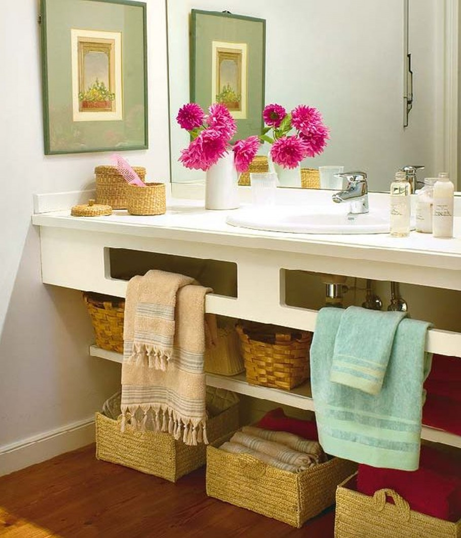 Manteles y muebles para la decoraci n de tu hogar casa y for Pretty small bathroom ideas