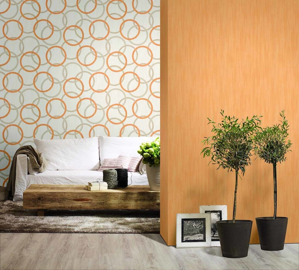 Papel pintado vs pintura casa y mantel - Combinar papel y pintura ...