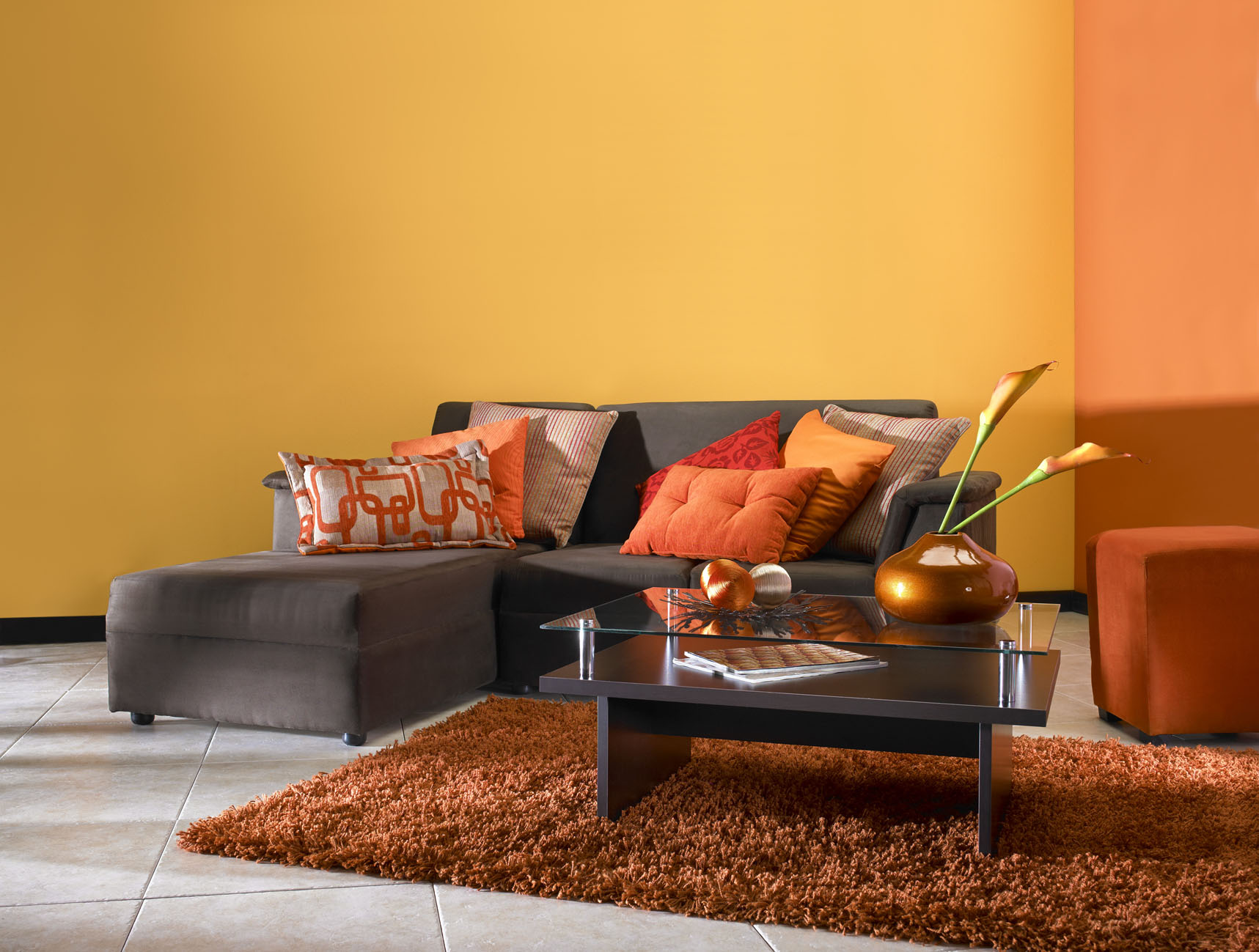 El arco ris de la decoraci n casa y mantel for Decoracion naranja