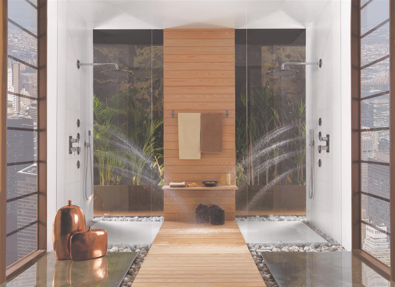 Moderno y relajante una buena opci n para tu ba o casa y mantel - Decoracion duchas ...
