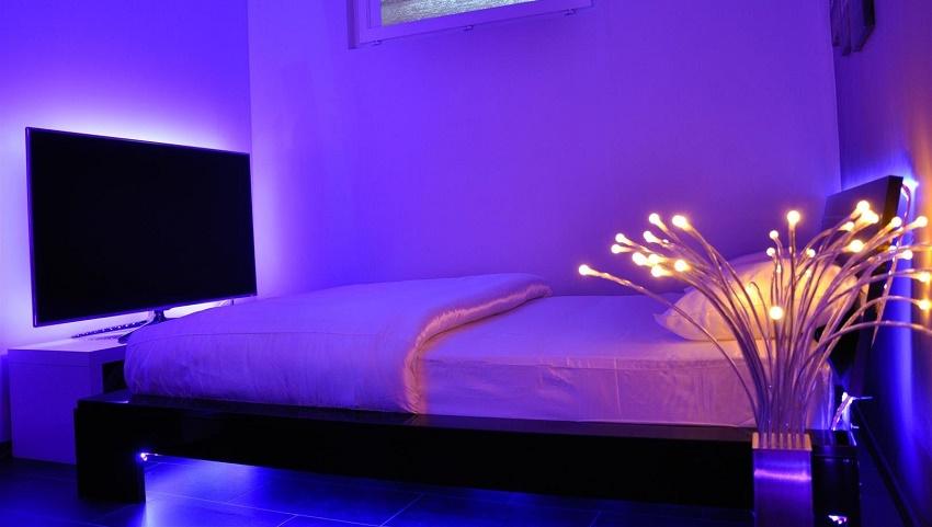 Fiesta fiesta la luz led en la decoraci n del hogar - Habitaciones con luces ...
