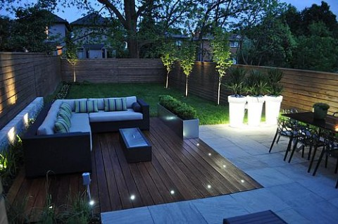 with luz led exterior