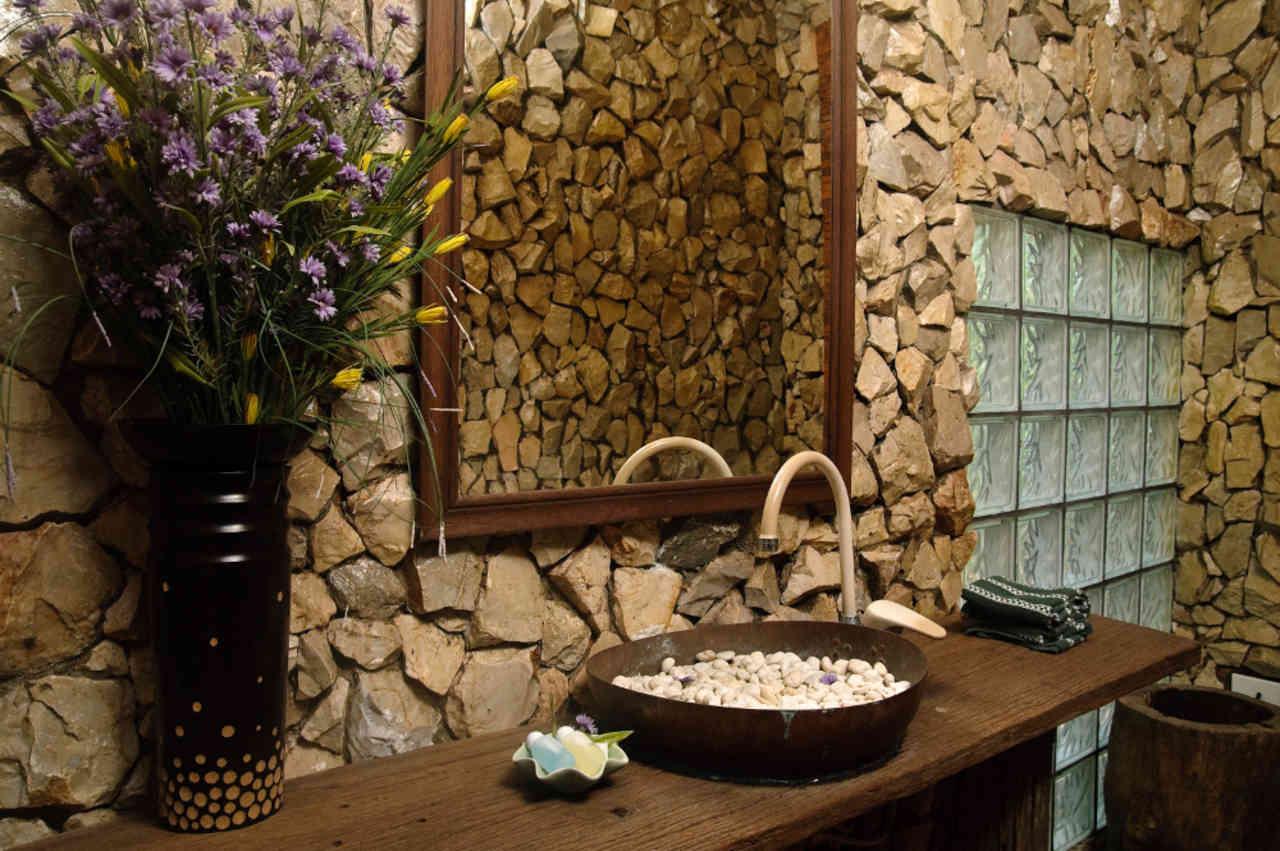 De la naturaleza a tu hogar casa y mantel - Decoracion de paredes con piedra ...