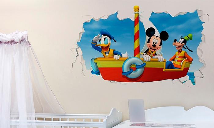 vinilo-3d-pared-decoracion-casaymantel-mickeymouse