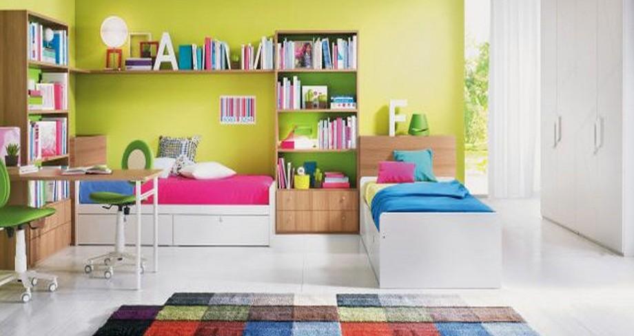 decoracion habitacion con dos camas
