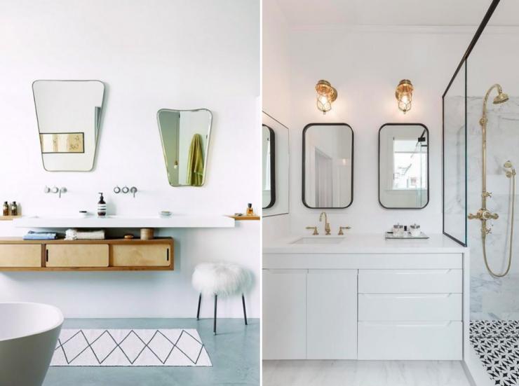Marchando una pareja de espejos como alternativa casa y - Espejos para el bano ideas y consejos ...