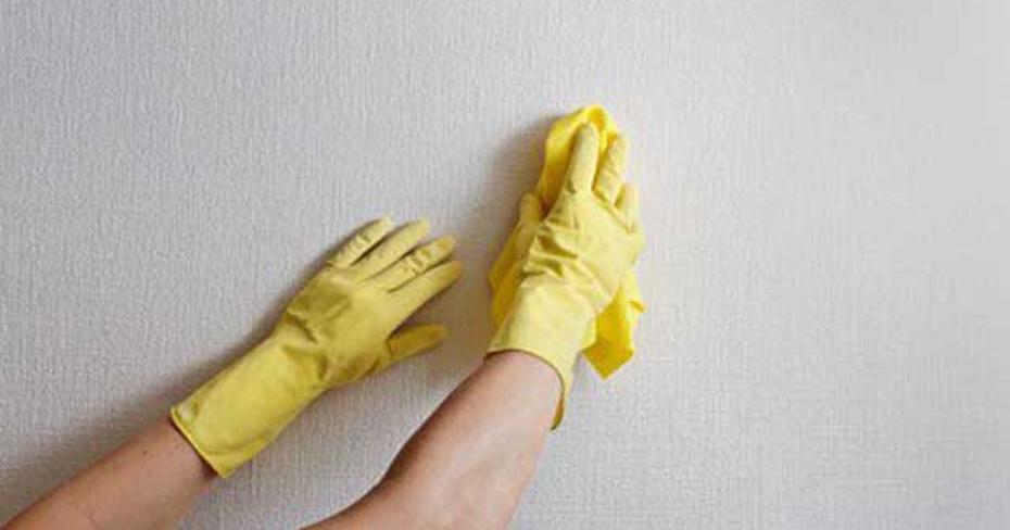 como limpiar las paredes de casa