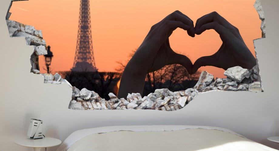 Vinilo decorativo 3D Paris