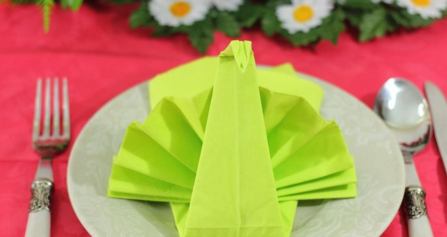 servilletas de tela para hacer formas