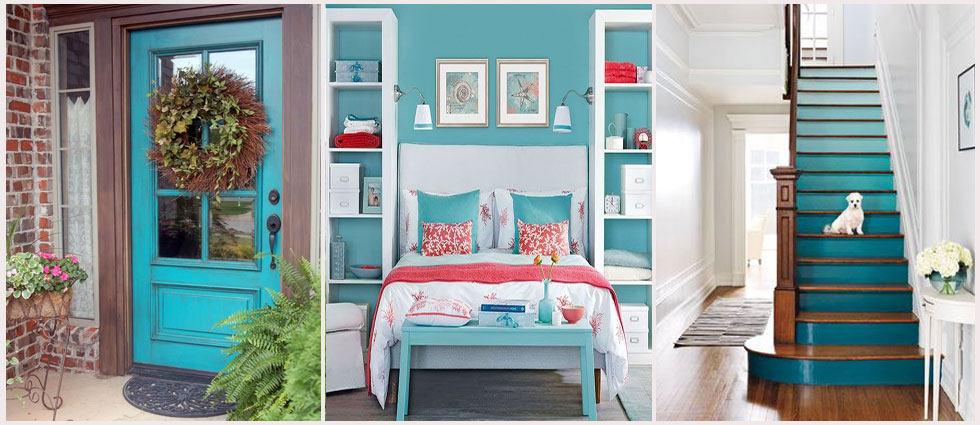 Turquesa y coral combinaci n ideal casa y mantel - Como hacer color turquesa ...